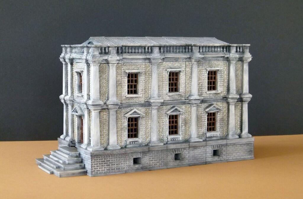 Maqueta Casa Victoriana impresa y acabada por Mais3d