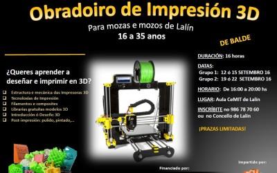 Obradoiro de Impresión 3D en Lalín