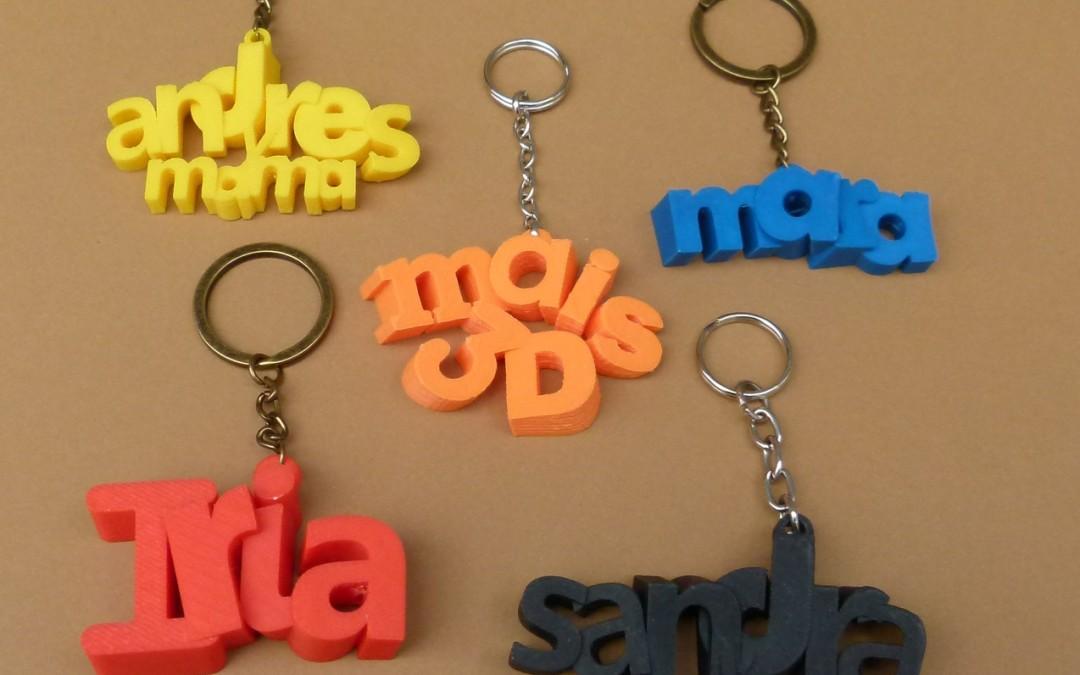 Llaveros 3D personalizados